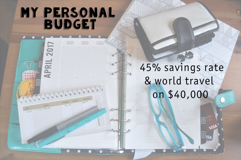 my budget world travel and 45 savings rate on less than 40k